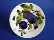 Lovely Wemyss Ware 'Plums' Tea Plate c1900